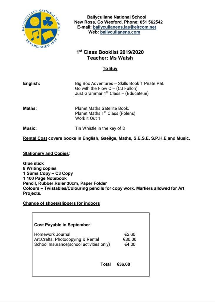 1st Class | Ballycullane National School